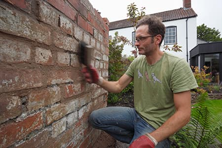 Finishing a Lime Mortar Joint