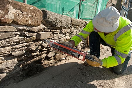 Lime Mortar with Pointing Gun