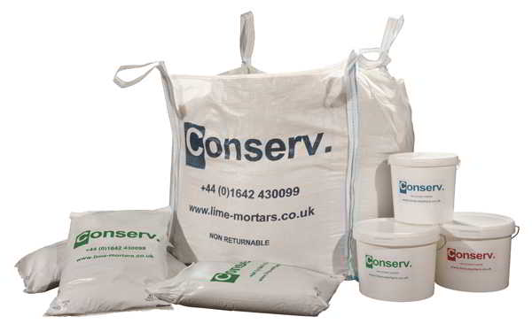 Conserv® Range of Lime Mortars, Plasters and Renders