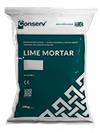 Hot Mixed Lime Mortar, Fine Stuff, Matured (25kg)