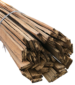 Riven Chestnut Laths (4ft Lengths, Bundle of 12)